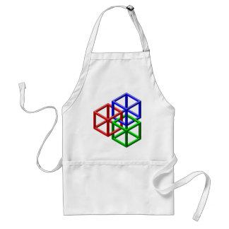 立方体の不可能な幾何学の目の錯覚 スタンダードエプロン
