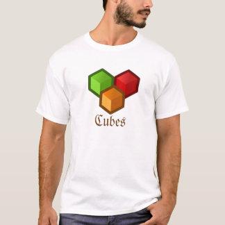 立方体の人のTシャツ Tシャツ