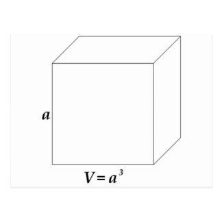 立方体の容積 ポストカード