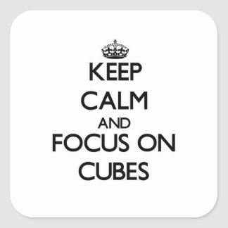 立方体の平静そして焦点を保って下さい スクエアシール