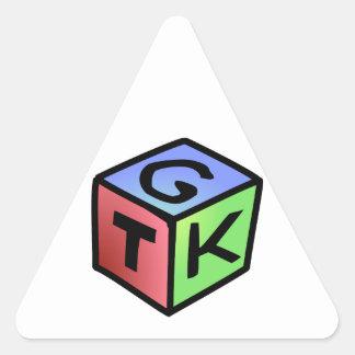立方体の赤い緑のFash 三角形シール