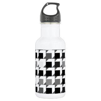 立方体パターン(黒01) ウォーターボトル