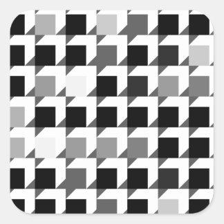 立方体パターン(黒01) スクエアシール