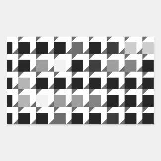 立方体パターン(黒01) 長方形シール