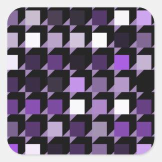 立方体紫色04 スクエアシール