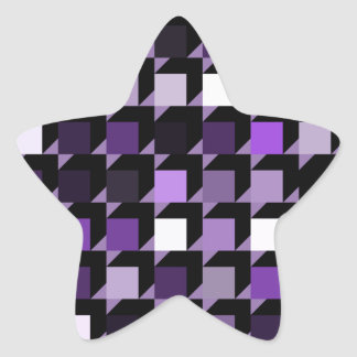 立方体紫色04 星シール