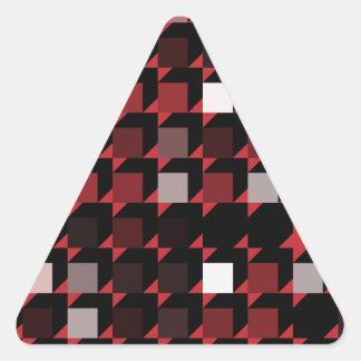 立方体赤い04 三角形シール