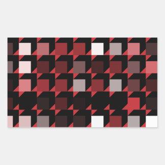 立方体赤い04 長方形シール