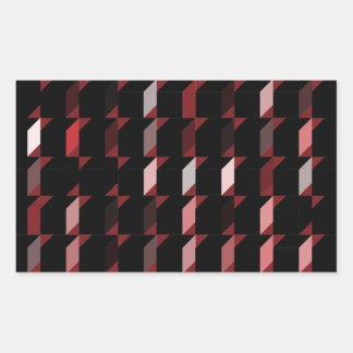 立方体赤い05 長方形シール