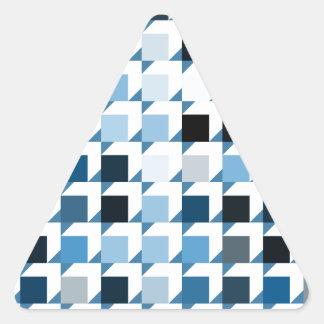 立方体青い01 三角形シール