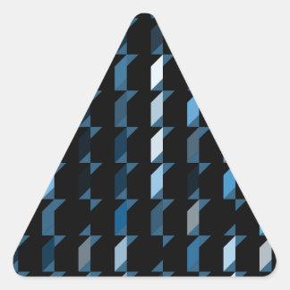 立方体青い05 三角形シール