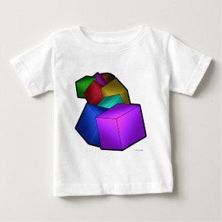 立方体 ベビーTシャツ