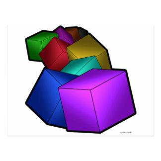 立方体 ポストカード
