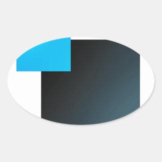 立方体 楕円形シール