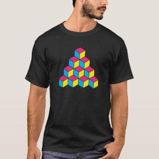 立方体(黒) Tシャツ