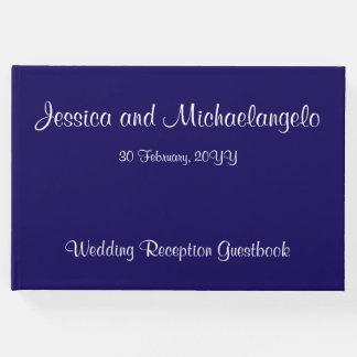 立派で、シンプルな結婚式か結婚のゲストブック ゲストブック