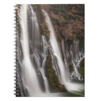 端のBurneyの滝にわたって ノートブック