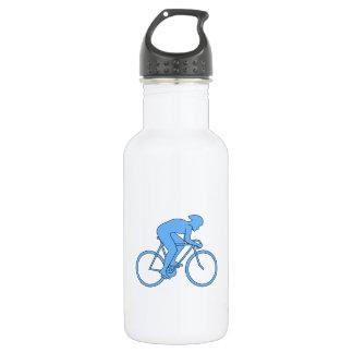 競争のサイクリスト。 青い ウォーターボトル