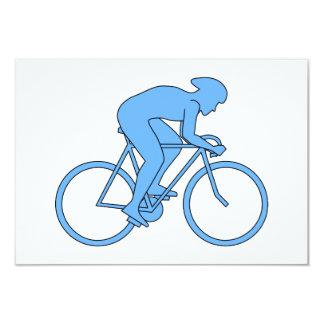 競争のサイクリスト。 青い カード