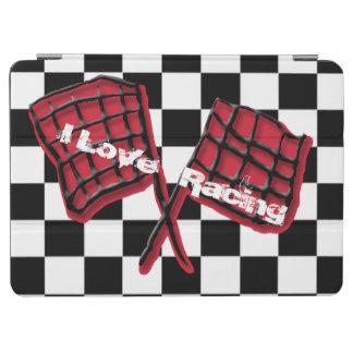 競争の白黒背景の競争の旗 iPad AIR カバー