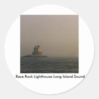 競争の石の灯台Long Island Sound ラウンドシール