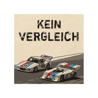 競争車KEIN VERGLEICH ウッドウォールアート