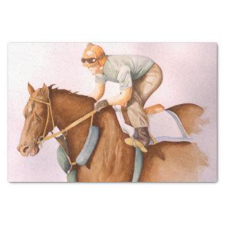 競走馬およびジョッキー 薄葉紙