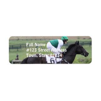 競走馬の疾走する郵送のラベル ラベル