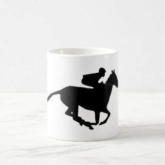 競馬のピクトグラム コーヒーマグカップ