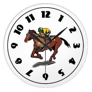 競馬の時計 ラージ壁時計