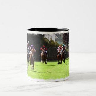 競馬分野のコーヒー・マグ ツートーンマグカップ