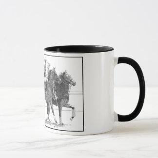 競馬馬のマグ マグカップ