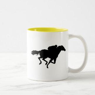 競馬; 黄色 ツートーンマグカップ