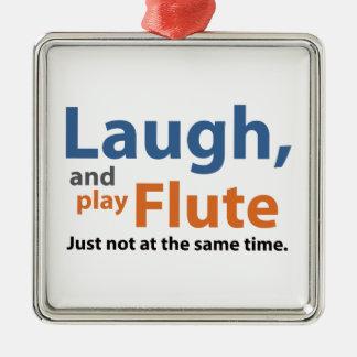 笑いおよび演劇のフルート メタルオーナメント