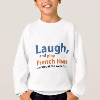 笑いおよび演劇のフレンチ・ホルン スウェットシャツ