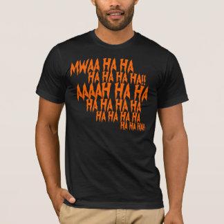 笑いのハロウィンの邪悪なTシャツ Tシャツ