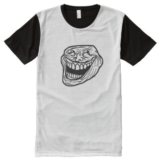 笑いのミームのパネルのTシャツ オールオーバープリントT シャツ