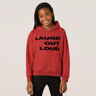 笑いの騒々しい女の子のフリースのプルオーバーのフード付きスウェットシャツ