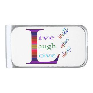 、笑いは頻繁によく住んでいましたり、常に愛します シルバー マネークリップ