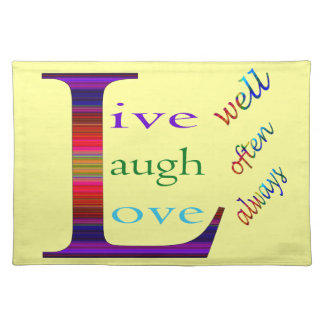 、笑いは頻繁によく住んでいましたり、常に愛します ランチョンマット