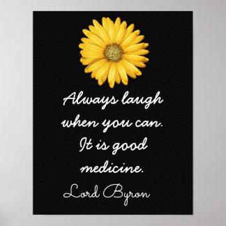 笑い声のよい薬 -- _の芸術Print_ ポスター