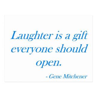 笑い声はギフト…です ポストカード