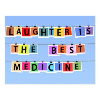 笑い声は最も最高のな薬です ポストカード