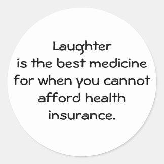 笑い声は最も最高のな薬のための時01です ラウンドシール