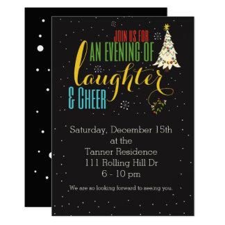 笑い声及び応援の休日の招待 カード