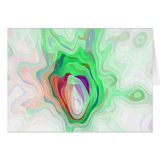 笑い声-パステル調の緑 カード
