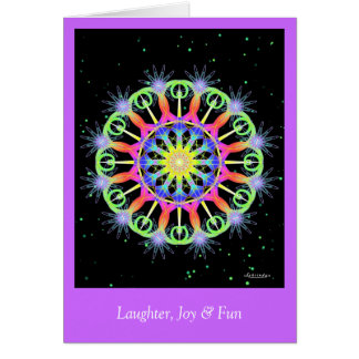 笑い声、喜び及びおもしろい カード