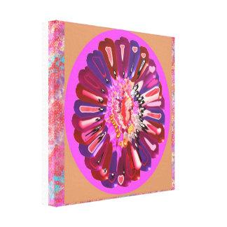 笑い声- RedRose PinkRoseの花弁によって基づくデザイン キャンバスプリント