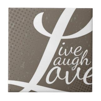 笑い愛は住んでいます タイル