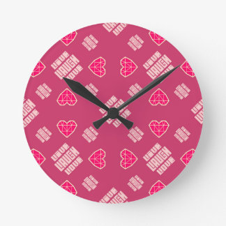笑い愛は住んでいます ラウンド壁時計